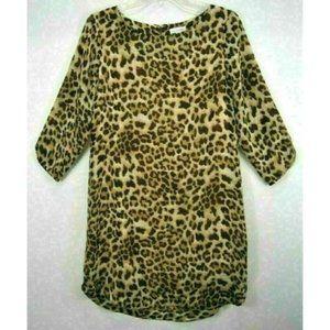 Charming Charlie Womens M Lined Dress Leopard EUC
